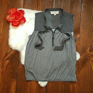 | Sale | LOFT Sleeveless Dress Top Navy & White